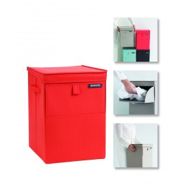 CORBEILLE A LINGE EMPILABLE ROUGE