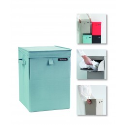 CORBEILLE A LINGE EMPILABLE MENTHE