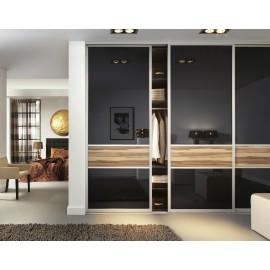 Portes coulissantes sur mesures avec panneaux, miroirs et verre