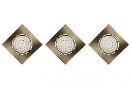 3 SPOT FOCUS ENCASTRABLE CARRE LED