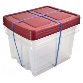 LOT DE 3 BOITES DE RANGEMENT NESTA BOX 32 LITRES