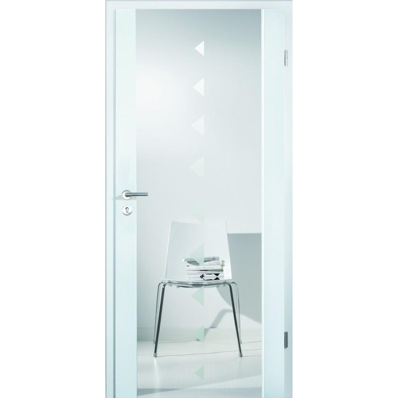 Porte interieure en verre a cadre bois 2501 hoffmanns - Porte exterieure en verre ...